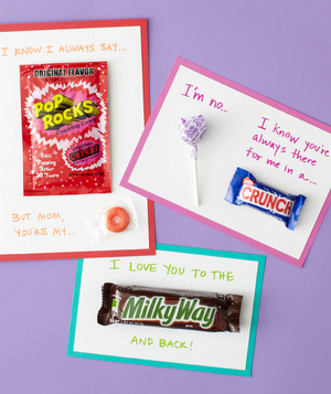 Candy mother's day cards