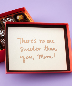 Chocolate box mother's day card