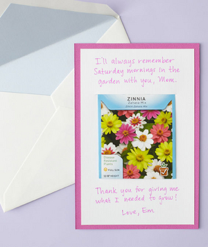 Flower seeds mother's day card