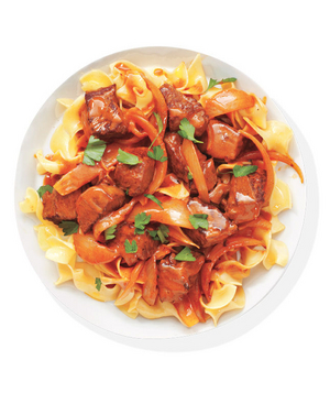 Beef Paprikash With Egg Noodles