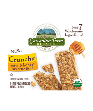 Cascadian Farm Organic Crunchy Oats & Honey Granola Bars