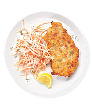Chicken-Fried Steak With Carrot Slaw