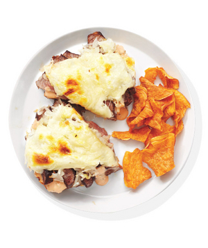 Open-Face Steak Reubens