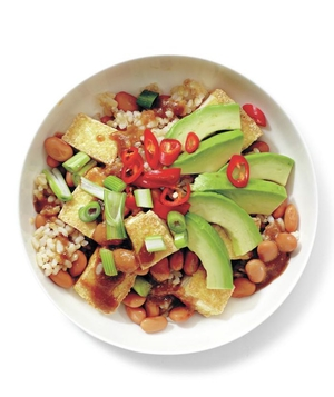 Tofu and Avocado Rice Bowl