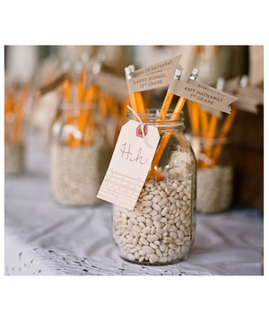 Pencils as escort cards