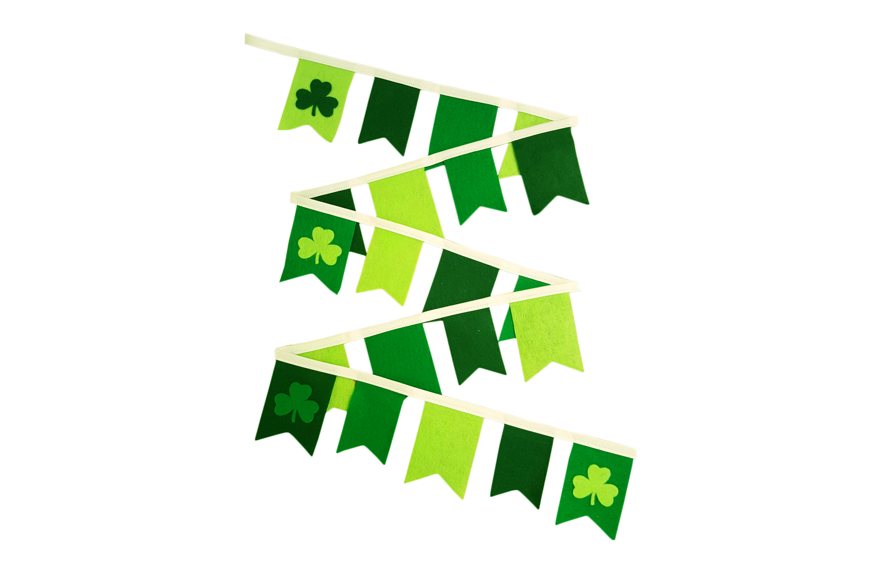 Green Clover Bunting Garland