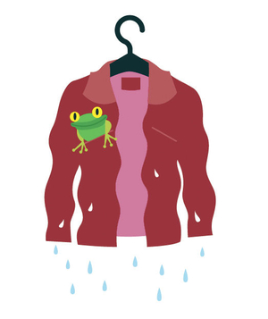 Illustration of a wet suede jacket
