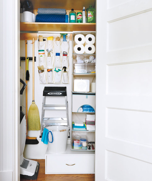 How To Organize Closet how to organize your utility closet | real simple