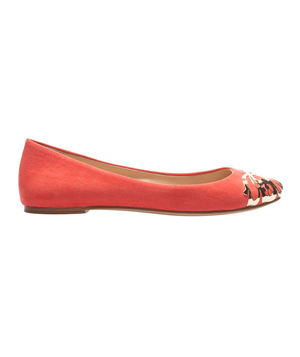 Zara Ballerina With Metal Toe Cap