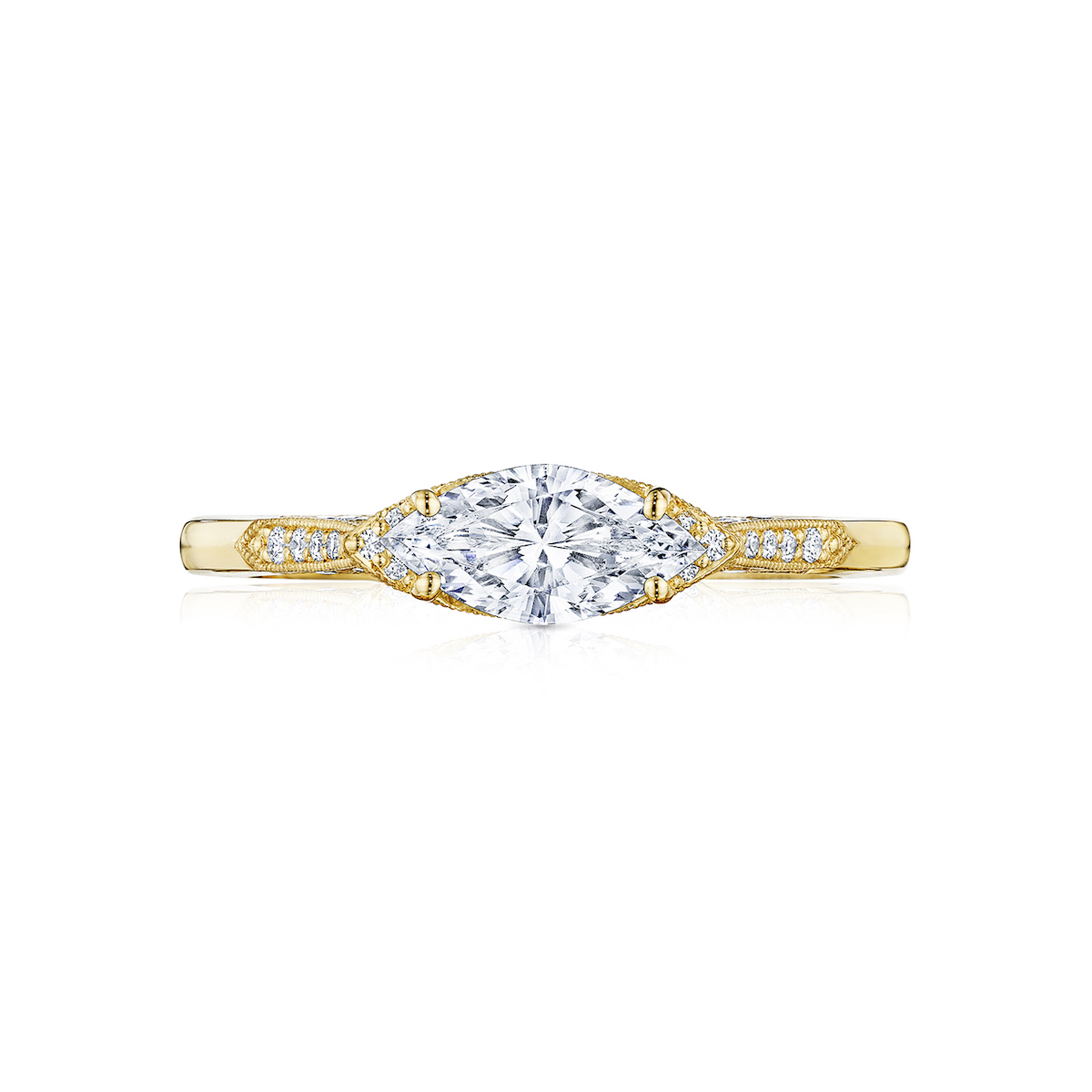 yellow gold tacori diamond ring