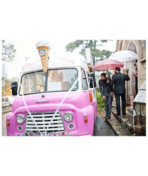 Ice cream truck at a wedding