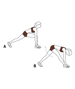 Illustration of a runner's stretch
