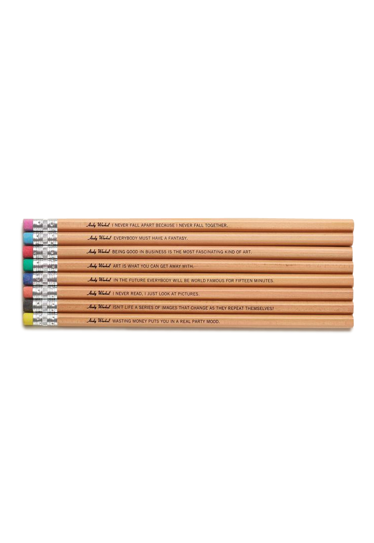 <p>Andy Warhol Philosophy Pencils</p>