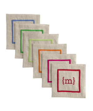 Linen Satin Stitched Coasters
