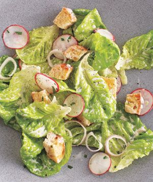 Bibb and Radish Salad With Buttermilk Dressing