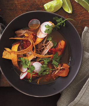 Tortilla Soup With Pork and Squash