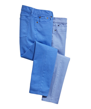 J.Crew stretch-cotton jeans and Gap stretch cotton–and-polyester jeans