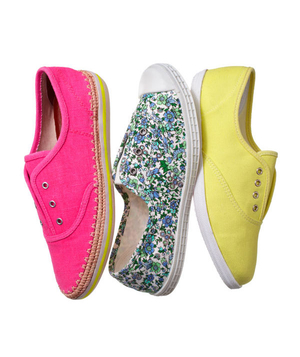 Neon canvas sneakers