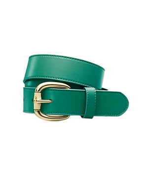 Talbots Leather Bamboo Harness-Buckle Belt