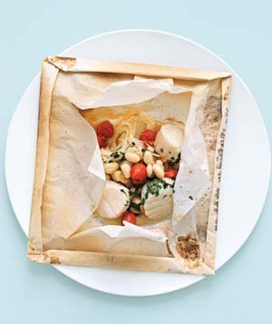 Scallops in Parchment