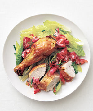 Buttermilk Chicken and Tomato Salad