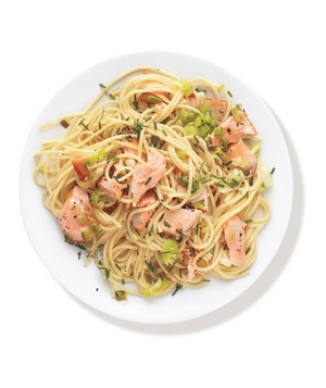Buttery Pasta With Salmon and Leeks