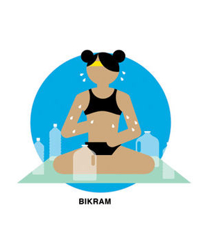 Illustration of bikram yoga