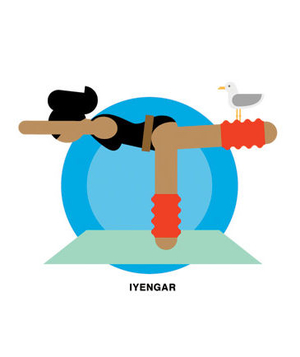 Illustration of iyengar yoga