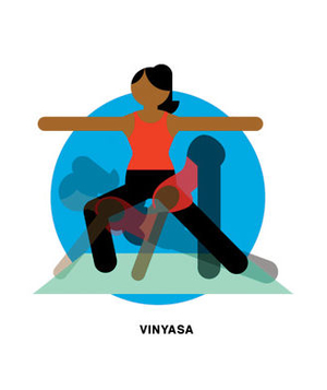 Illustration of vinyasa yoga