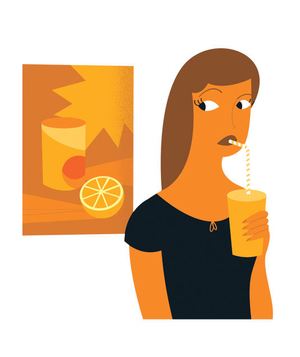 Illustration of an orange woman