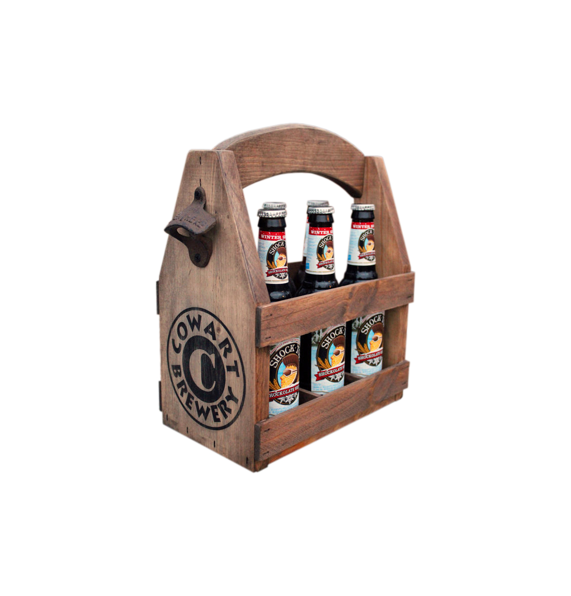 The Best Gifts For Dad. Wooden Six Pack Beer Tote