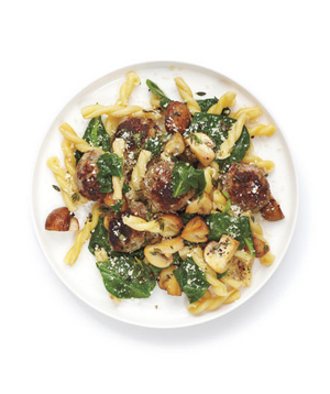 10 easy meatball recipes real simple for Baked pasta with meatballs and spinach
