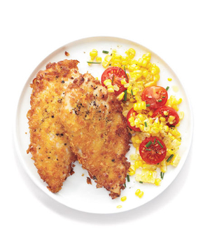 Crispy Chicken With Corn Salad