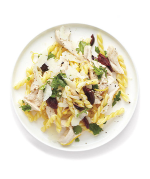 Lemony Chicken and Olive Pasta