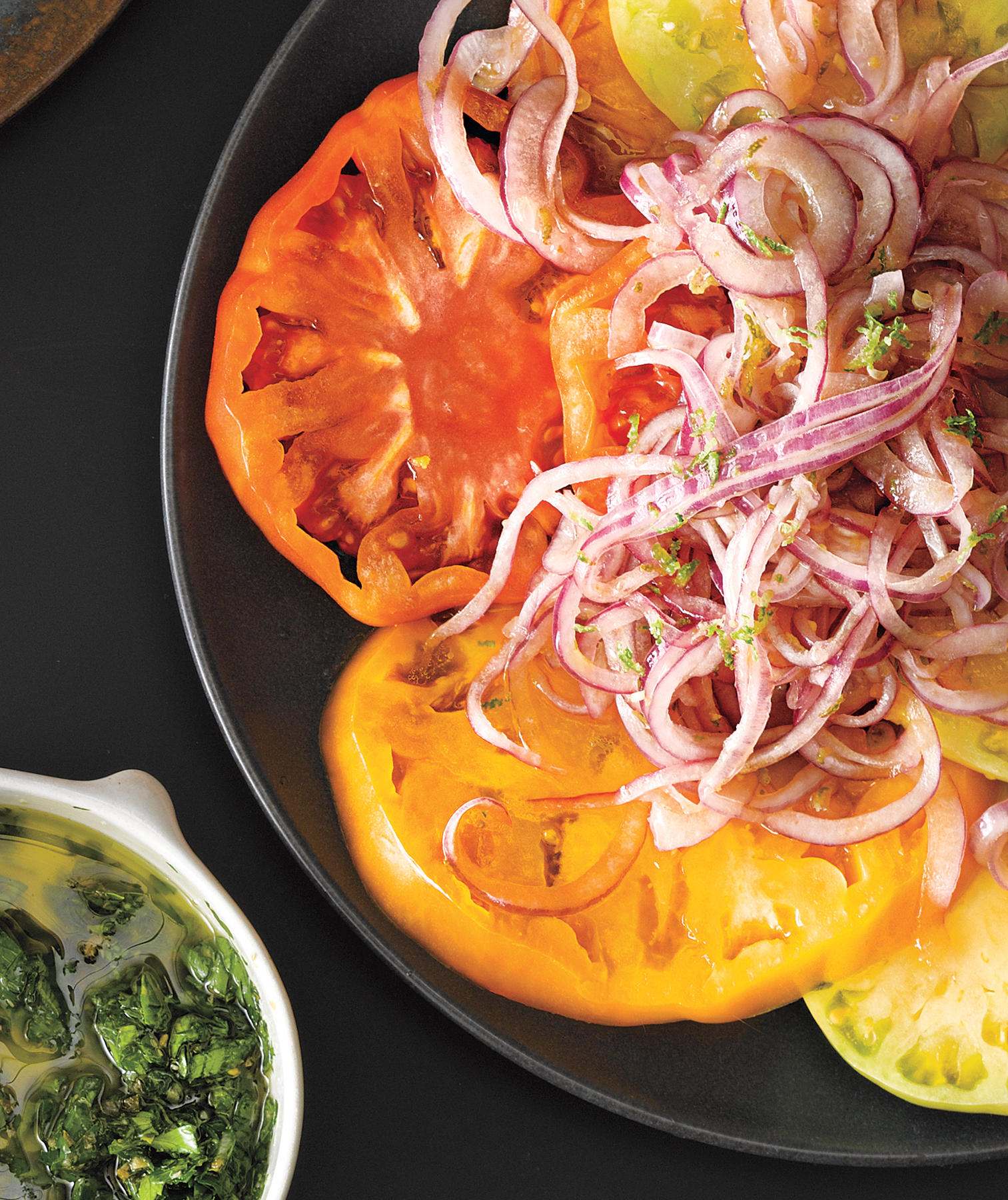 Tomato Salad With Pickled Onion