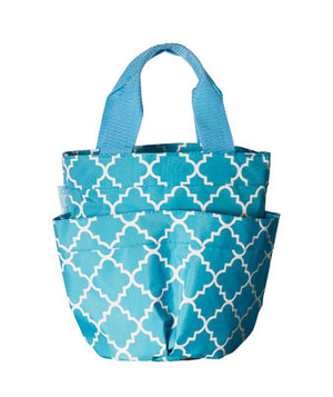 Mesh-bottomed beach tote