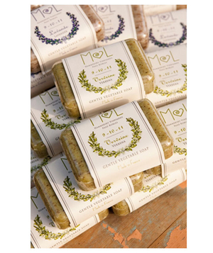 Pretty vegetable soap wedding favors