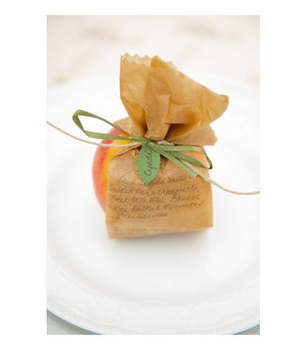 Peach as a wedding favor