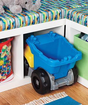Playroom storage of toys
