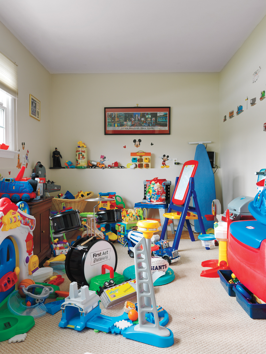 Before: Messy Playroom