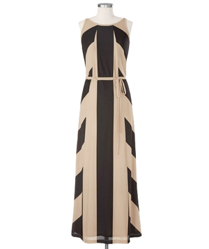 Coldwater Creek Java Stripe Maxi Dress