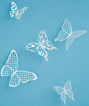 Paper construction of butterflies by Matthew Sporzynski