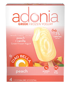 Adonia by Ciao Bella Peach Greek Frozen Yogurt Bars