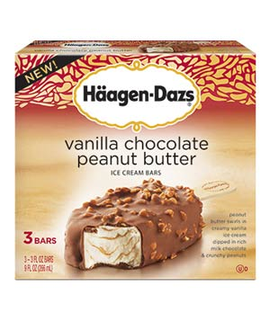Häagen-Dazs Vanilla Chocolate Peanut Butter Ice Cream Bars