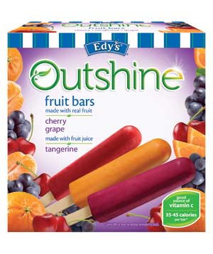 Dreyer's/Edy's Outshine Fruit Bars in Cherry, Tangerine, and Grape
