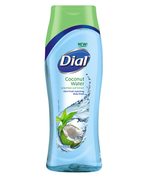 Dial Coconut Water Body Wash Clear Blue