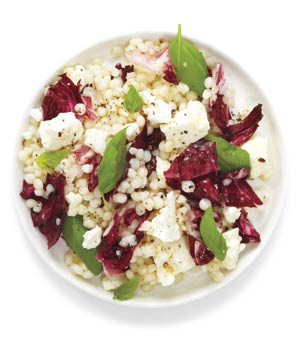 Pearl Couscous With Feta and Radicchio