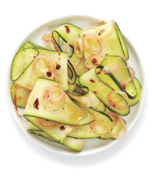 Spicy Marinated Raw Zucchini