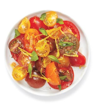 Tomato Salad With Ginger and Mint