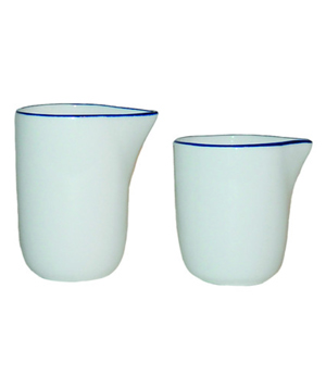 Abbesses Creamer with Blue Rim